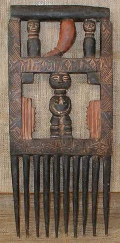 African Traditional art from the Ashanti Tribe - African Comb