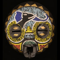 Baluba Mask 57: Click for more views of this African Mask.