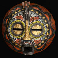 Baluba Mask 55: Click for more views of this African Mask.