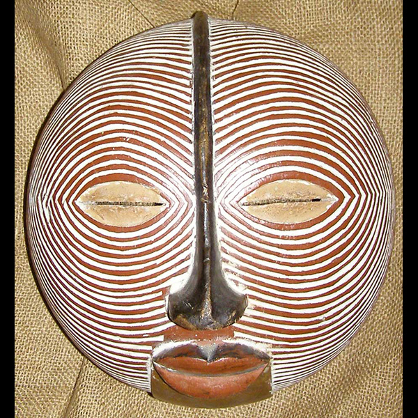 Africian Mask from the Baluba Tribe of Congo