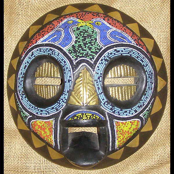 African Traditional art from the Baluba Tribe - African Mask