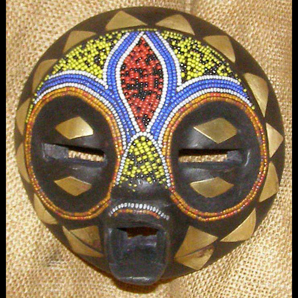 African Baluba Mask and African Sculptures