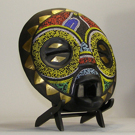 African Balubagrams Mask and African Sculptures