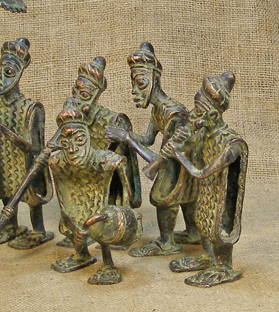 African Bamileke Bronze and African Sculptures