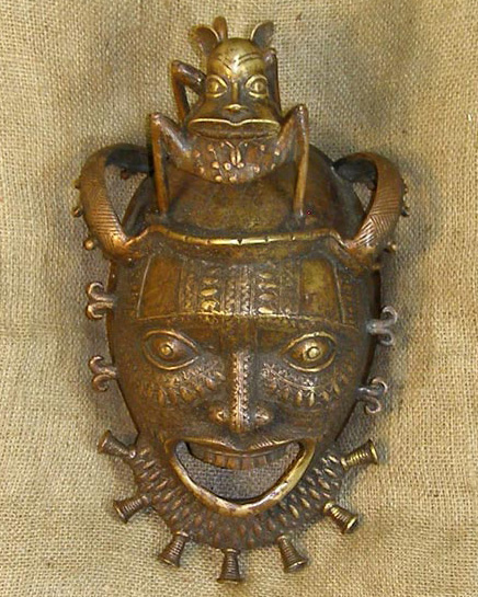 African Bamileke Mask and African Sculptures