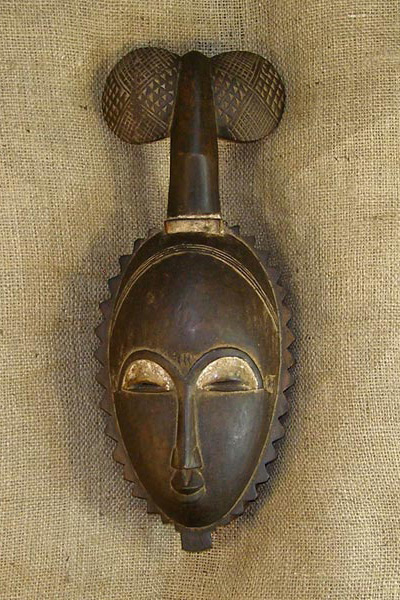 African Traditional art from the Baule Tribe - African Mask