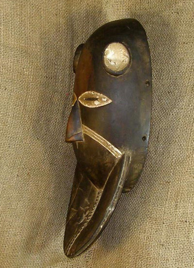 African Baule Mask and African Sculptures