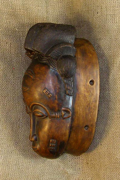 Africian Mask from the Baule Tribe of the Ivory Coast