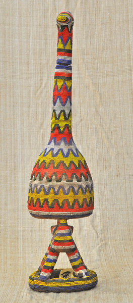 Beaded Bottle from the Bamum people of Cameroon