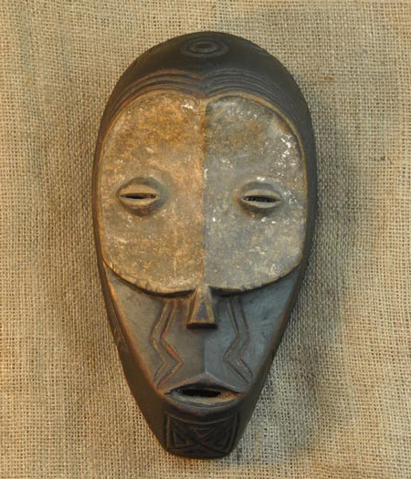 African Mask from the Bena Lulua Tribe of Democratic Republic of Congo