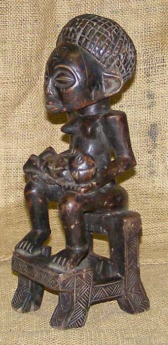 African Chokwe Statue and African Sculptures