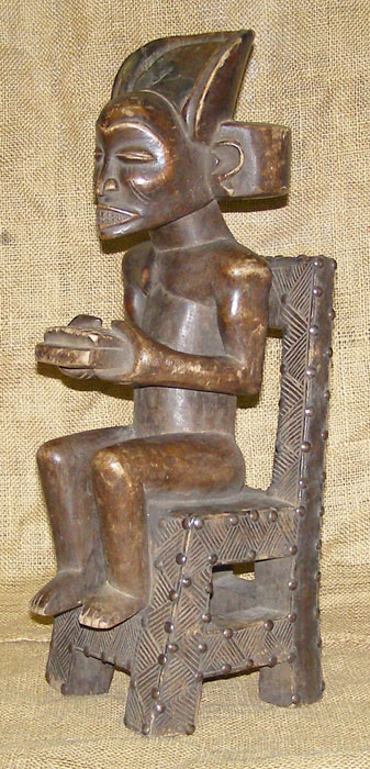 Africian Statue from the Chokwe Tribe of Congo, Zambia, and Zaire