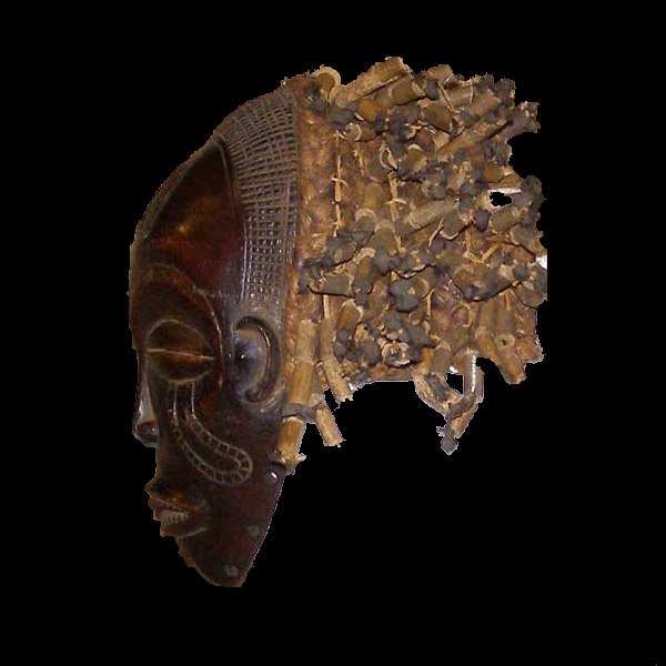 Africian Mask from the Chokwe Tribe of Congo, Zambia, and Zaire