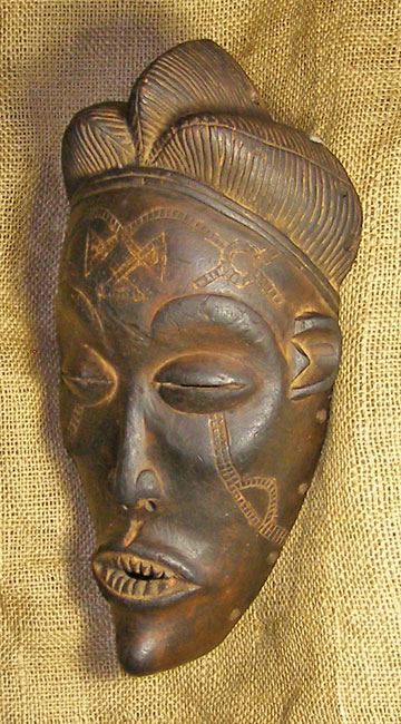 African Traditional art from the Chokwe Tribe - African Mask