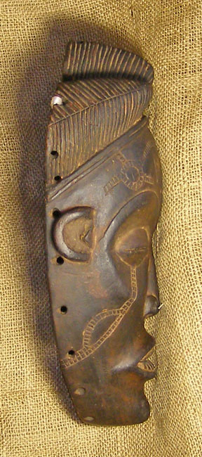 African Chokwe Mask and African Sculptures