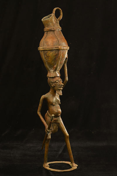 African Dogon Bronze 85, Right Angle