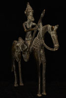 Dogon Bronze Mounted Warrior 82: Click for more views of this African Bronze.