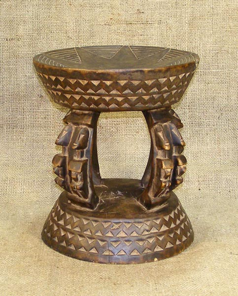 African Dogon Stool and African Sculptures