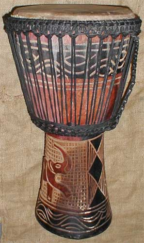 African Traditional art from the Mandinka Tribe - African Drum