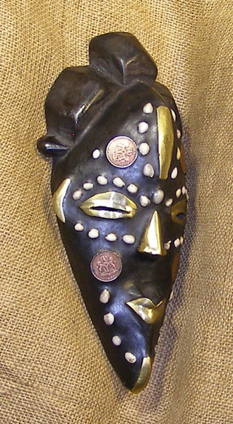African Fang Mask and African Sculptures