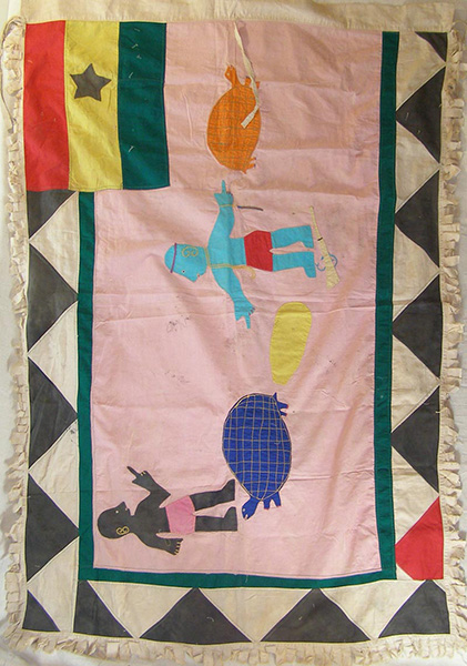 African Traditional art from the Fante Tribe - African Flag