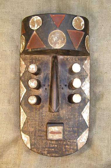 African Mask from the Grebo Tribe of Mali and Burkina Faso