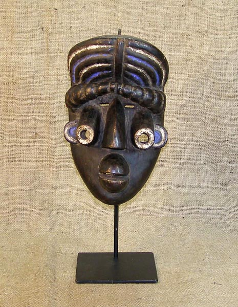 African Grebo Mask and African Sculptures