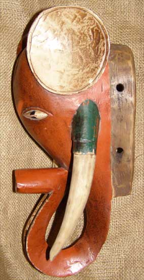 African Guro Mask and African Sculptures