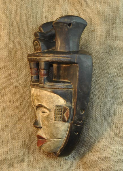 African Ibiobio Mask and African Sculptures