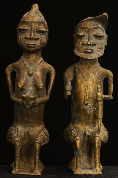 African Igbo Bronze Elders 31