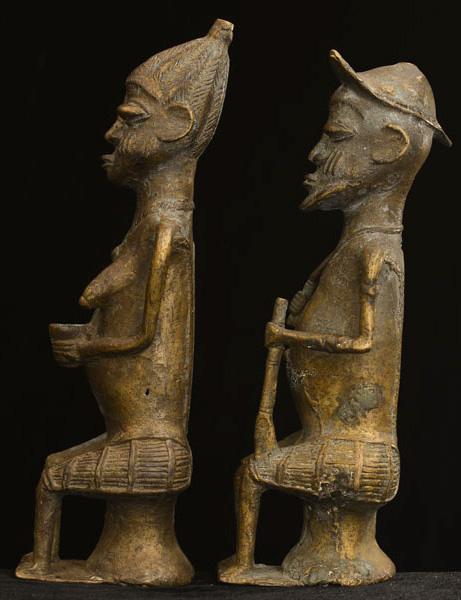 African Igbo Bronze Elders 31, Left