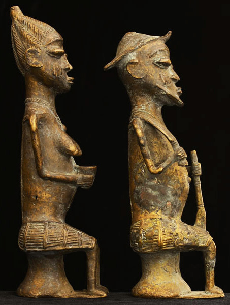 African Igbo Bronze Elders 31, Right
