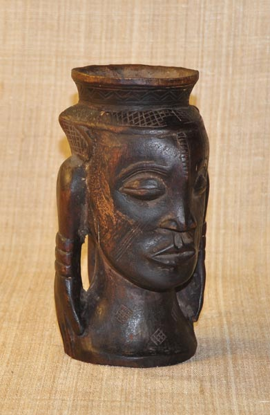 African Kuba Cup and African Sculptures