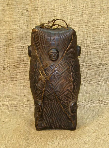 African Kuba Box and African Sculptures