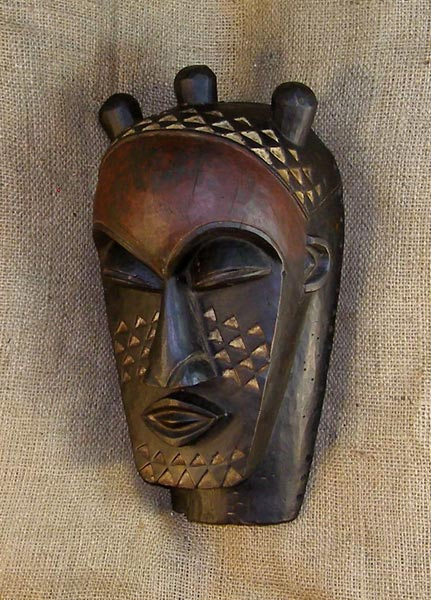 African Traditional art from the Kuba Tribe - African Mask