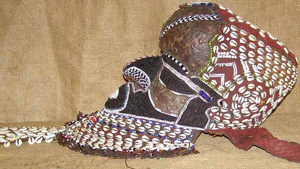 African Kuba Mask and African Sculptures