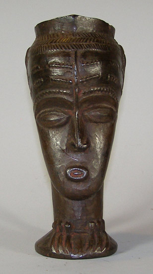 African Traditional art from the Kuba Tribe - African Cup