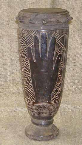 Africian Drum from the Kuba Tribe of Congo