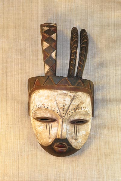 African Traditional art from the Kwele Tribe - African Mask