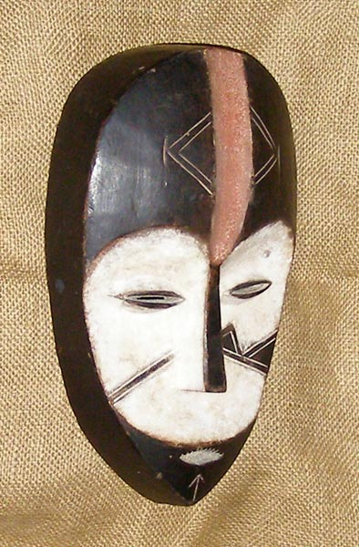 Africian Mask from the Kwele Tribe of Gabon