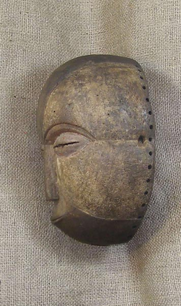 African Mask from the Loi Tribe of Democratic Republic of Congo