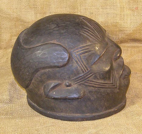African Traditional art from the Makonde Tribe - African Helmet