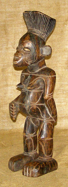African Decor - Mambila Statue 1 - Front Angle