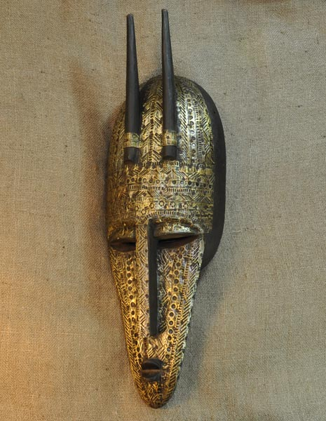 African Marka Mask and African Sculptures