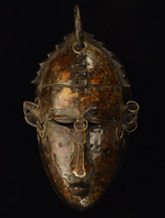 African Marka Mask 44: Click for more views of this African Mask