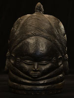 Mende Sande Secret Society Helmet 4: Click for more views of this African Helmet.