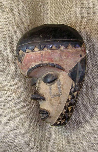 Africian Mask from the Pende Tribe of Democratic Republic of Congo