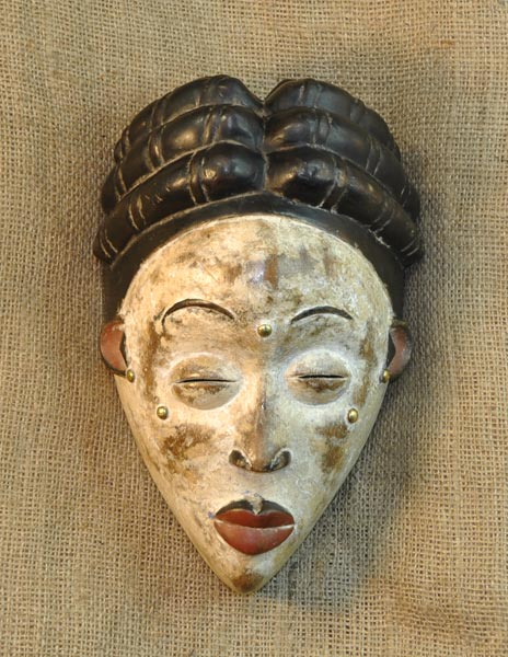 African Punu Mask and African Sculptures