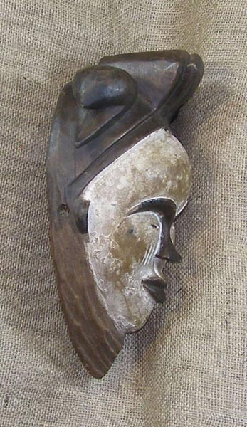 African Mask from the Punu Tribe of Cameroon, Gabon, and the Congo