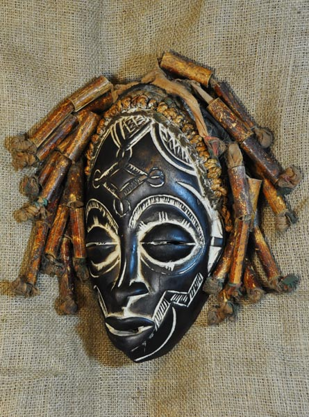 African Traditional art from the Rasta Tribe - African Mask
